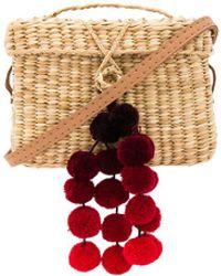 Nannacay | Baby Roge Cascade Red Pompom Bag | Lyst