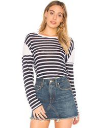 Monrow - French Stripe Tee - Lyst
