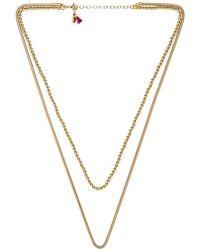 Shashi - Double Necklace - Lyst