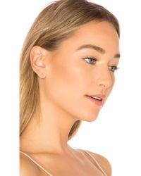 EF Collection - Diamond Bar Stud Earring In Metallic Gold. - Lyst