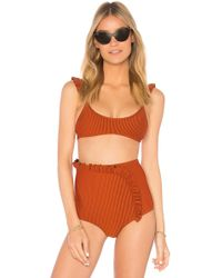Made By Dawn - Petal Bikini Top In Burnt Orange - Lyst