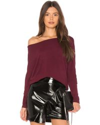 Cupcakes And Cashmere - Chey Sweatshirt In Burgundy - Lyst