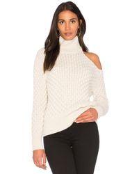 Nude | Turtle Neck Cut Out Shoulder Sweater | Lyst