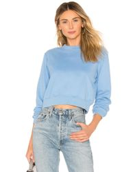 Lovers + Friends - Essential Sweatshirt In Baby Blue - Lyst