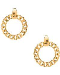 Vanessa Mooney - The Members Only Vm Logo Hoops In Metallic Gold. - Lyst