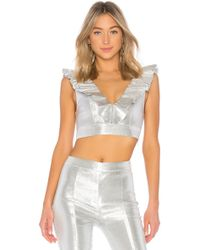 b8f0d5a658e726 Lyst - Nasty Gal Disco Fever Blouse in White
