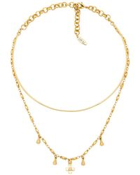 Luv Aj - The Cosmic Cross Tie Necklace In Metallic Gold. - Lyst
