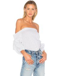 1.STATE - Off Shoulder Voluminous Sleeve Top - Lyst
