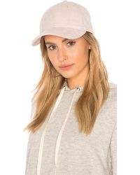 Michael Stars - Don't Be Suede Baseball Cap In Pink. - Lyst