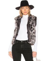 Adrienne Landau - Animal Printed Fur Vest - Lyst