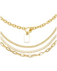 8 Other Reasons - Cadet Lariat Necklace In Metallic Gold. - Lyst