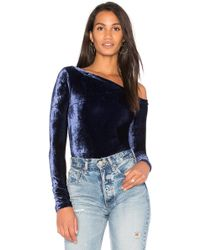 Getting Back to Square One - The Velour One Shoulder Bodysuit - Lyst
