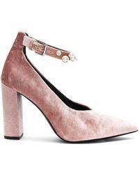 Sol Sana | Isla Heel In Dusty Rose Velvet Pearl | Lyst