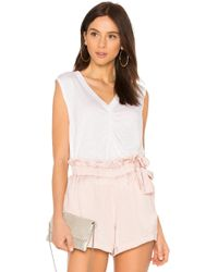 David Lerner - Sleeveless Boxy Tank In White - Lyst