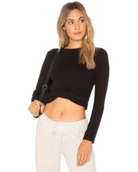 Monrow - Twisted Front Top - Lyst