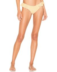 Montce Swim - Ruffle Uno Bottom In Yellow - Lyst