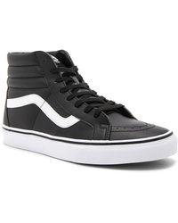 c3f9a7532ffda2 Lyst - Vans Sk8 Hi Reissue Premium Leather Sneakers in Black for Men