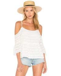 1.STATE - Cold Shoulder Ruffle Sleeve Blouse - Lyst