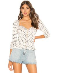 Free People - Kissin Kate Top In White - Lyst