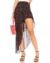 For Love & Lemons - Romy Tiered Maxi Skirt In Black - Lyst