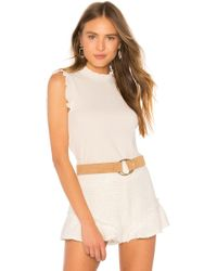 Cupcakes And Cashmere - Belen Tank In Cream - Lyst
