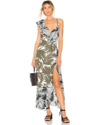 1.STATE - Ruffled Shoulder High Low Dress - Lyst