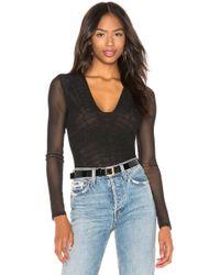 BCBGMAXAZRIA - Lace Bodysuit In Black - Lyst