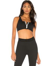fabe825ad1359 Lyst - Year Of Ours Samantha Tie-back Halter Sports Bra in Black