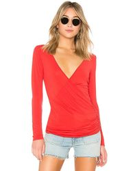 Lamade - Pilar Wrap Top In Red - Lyst