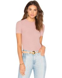 Getting Back to Square One - Short Sleeve Crop Sweater - Lyst