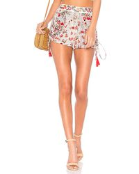 Raga - Primrose Drawstring Short In Multi In Red - Lyst