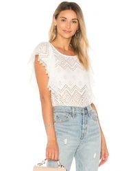 Ella Moss   Pleated Lace Top   Lyst