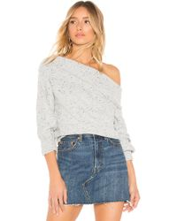 Michael Stars - Off The Shoulder Puff Sleeve Pullover - Lyst