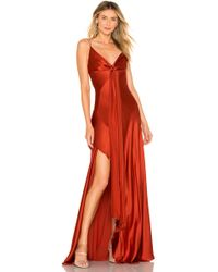 76141307e1 Veronica Beard Dragonfruit Deep V-neck Maxi in Brown - Lyst