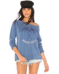 Chaser - Beach Feels Sweatshirt In Blue - Lyst