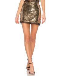 Rachel Zoe - Finn Skirt In Metallic Gold - Lyst