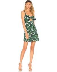 MILLY - Banana Leaf Jordan Mini Dress - Lyst