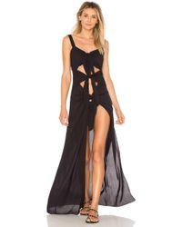 Adriana Degreas - Toucan Dress In Black - Lyst