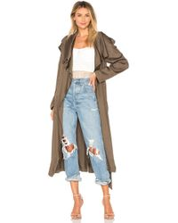 SOIA & KYO - Marinella Trench Coat In Olive - Lyst