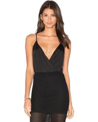 Blaque Label - Deep V Neck Sleeveless Bodysuit - Lyst