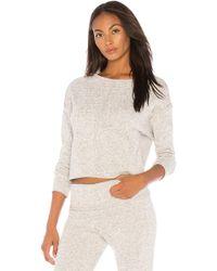 Onzie - Fleece Pullover In Light Grey - Lyst