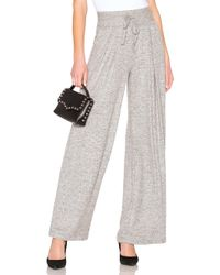 Joie - Adhyra Wide Leg Pant In Gray - Lyst