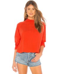 Free People - Jackson Tee In Red - Lyst