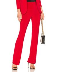 Norma Kamali - Boot Pant In Red - Lyst