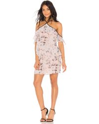 BCBGeneration - Off Shoulder Ruffle Tier Dress In Pink - Lyst