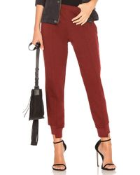 Wilt - Crop Shifted Jogger Pant In Red - Lyst