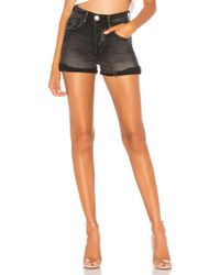 One Teaspoon - Harlets High Waist Denim Short - Lyst