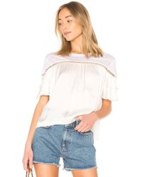 Generation Love - Becky Ruffle Top In White - Lyst
