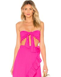 Lovers + Friends - Come Over Top In Fuchsia - Lyst