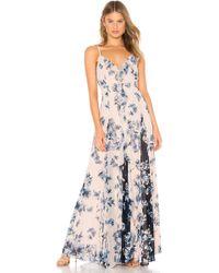 BCBGMAXAZRIA - Divine Bloom Ruffle Maxi Dress - Lyst